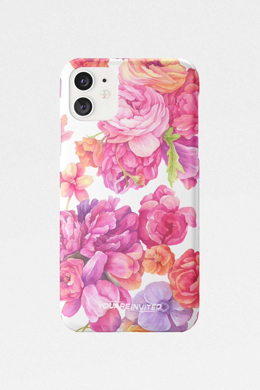 Blooming peony hard case 2color