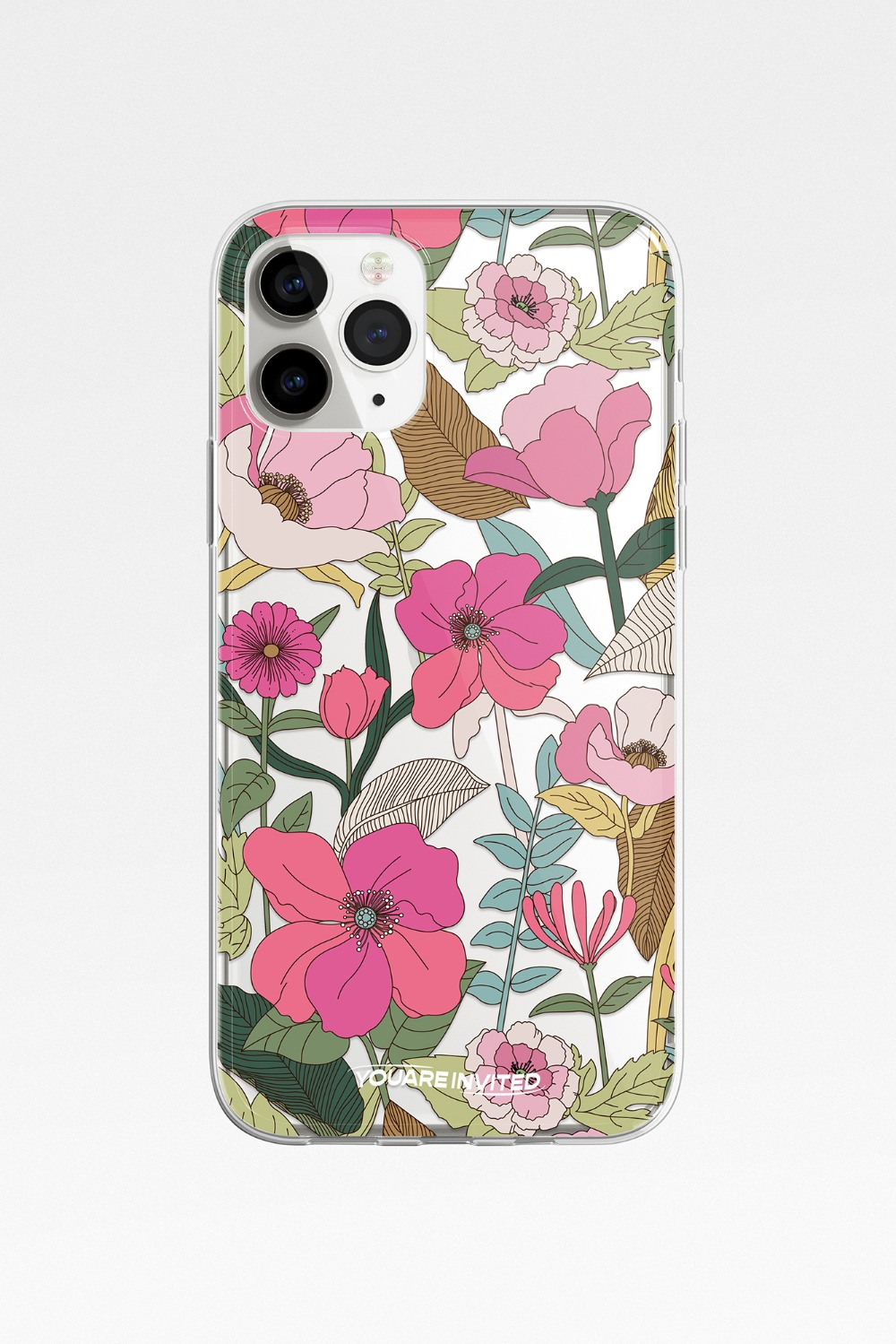 Vintage flower clear case