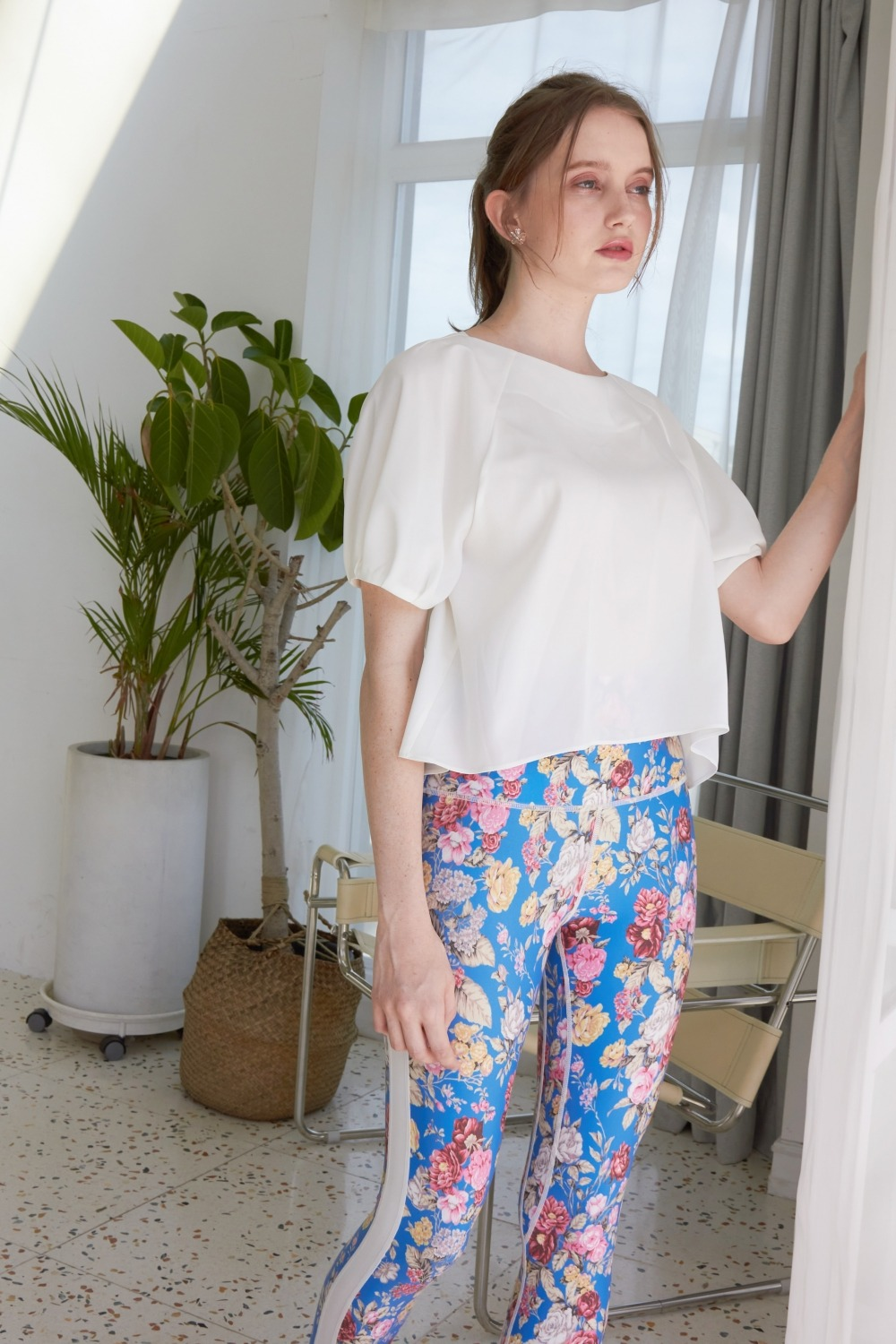 Dreamy flower leggings (Blue)