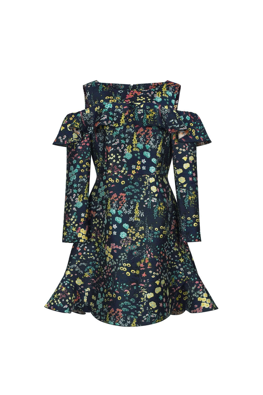 Flower garden jacquard dress