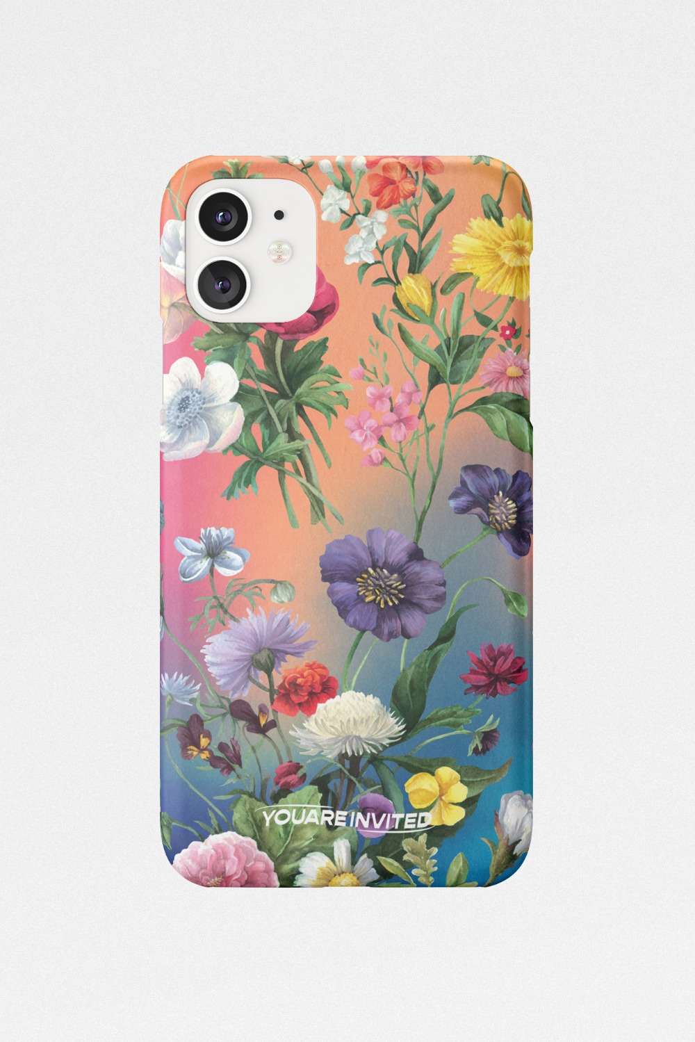 Flower garden gradation hard case