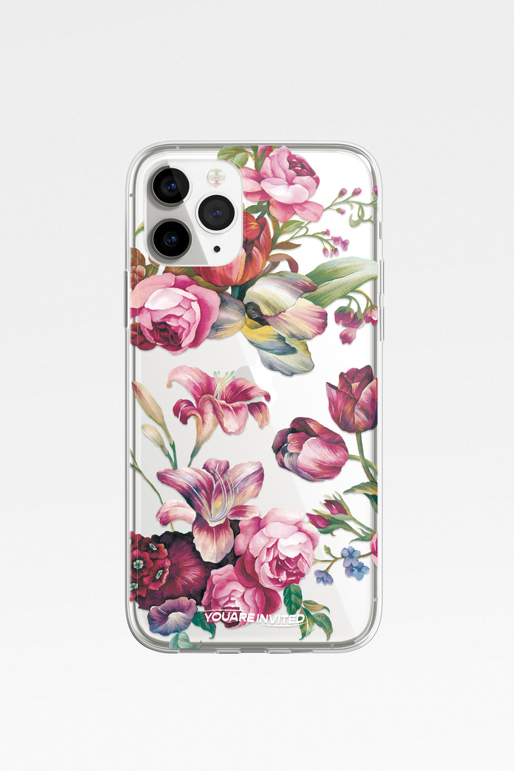 Floral mood clear case