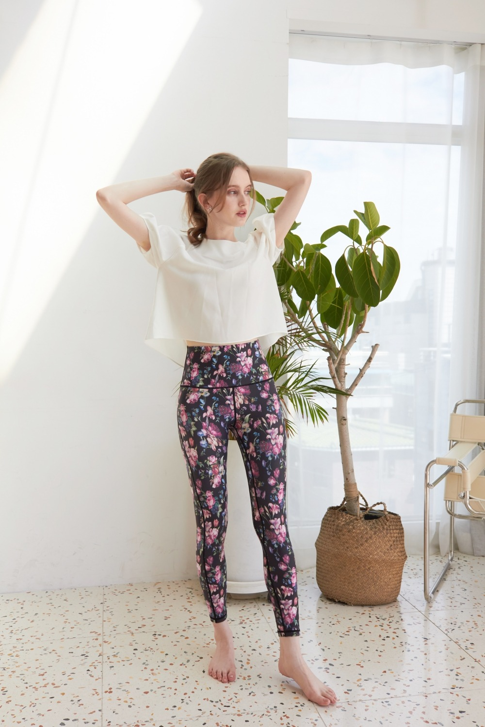 Floral mood leggings (Black)
