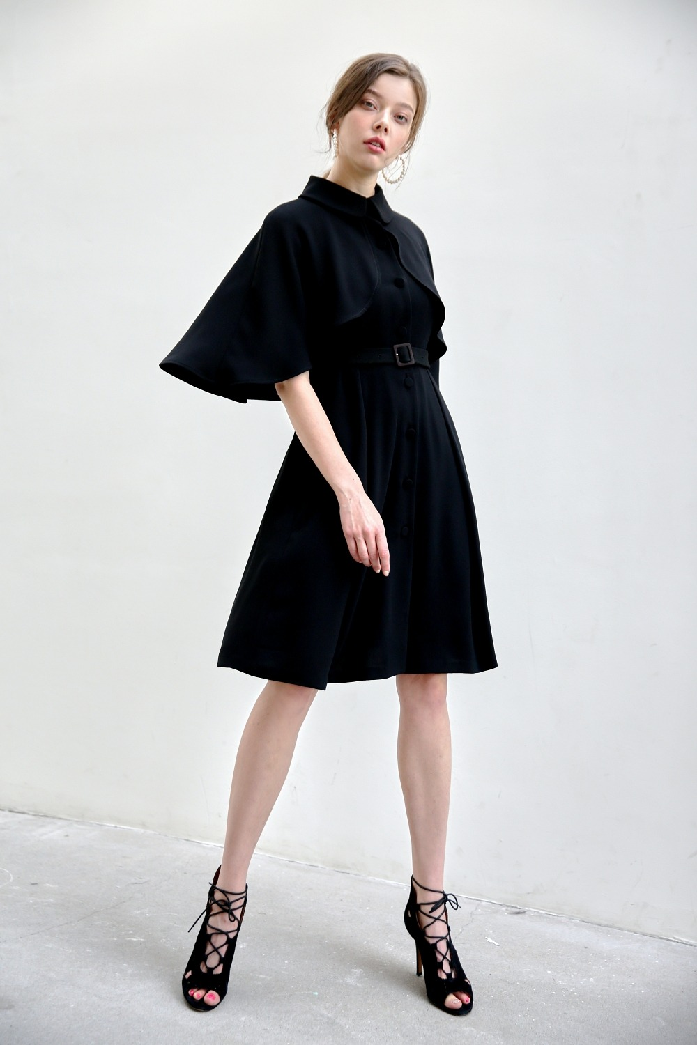Define cape dress (Black)