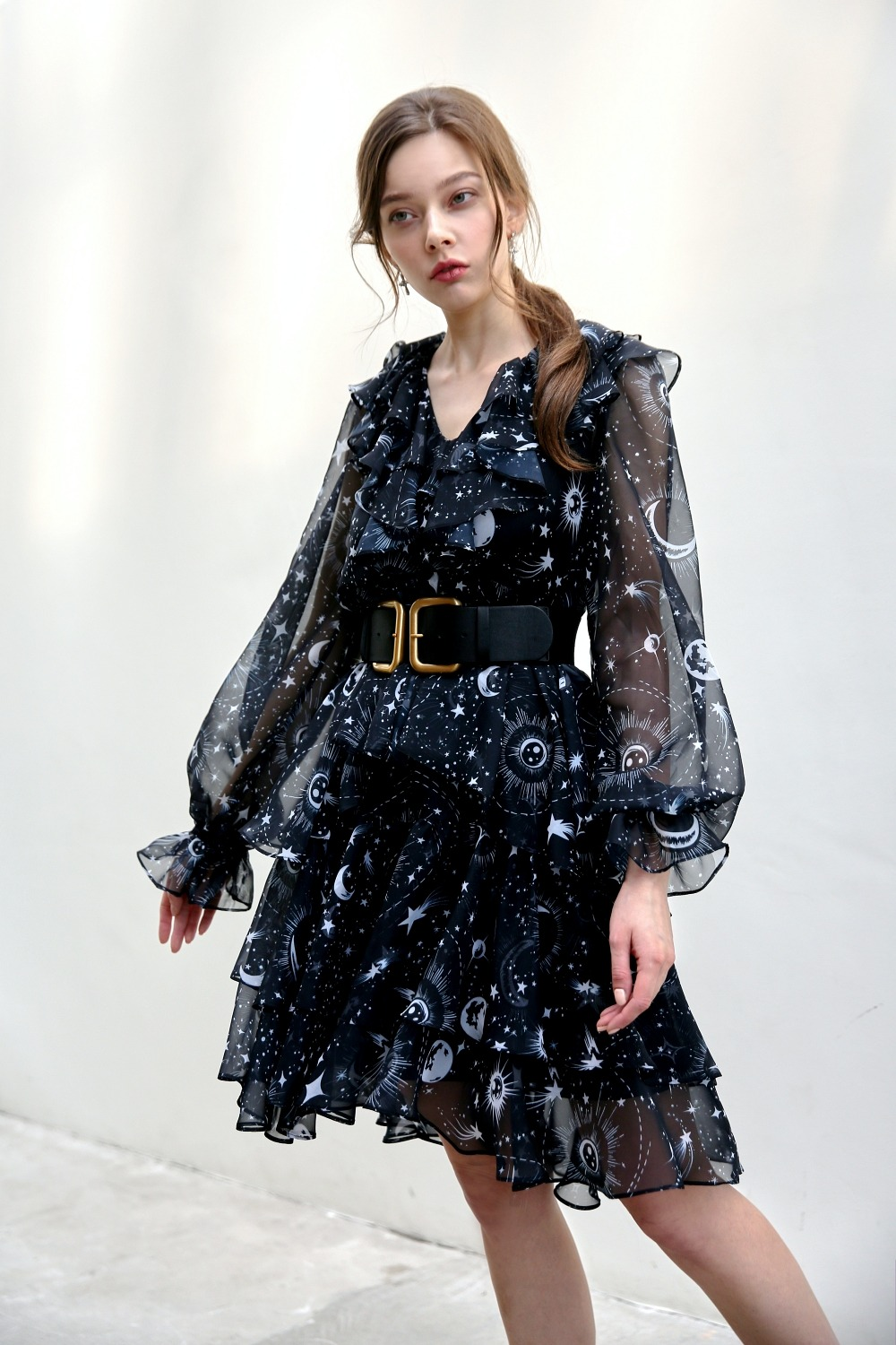 Universe dramatic ruffle dress