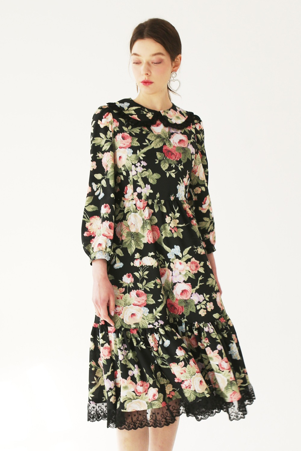 Rose garden lace match dress